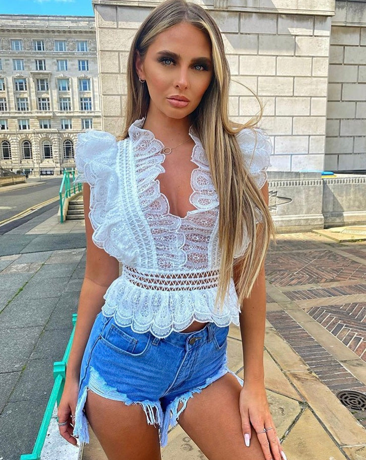 Crochet Lace Frill Top