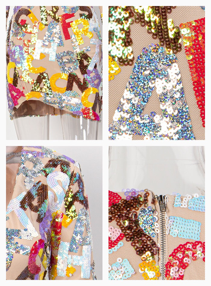 Alphabet Sequin Dress