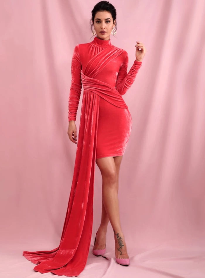 Full Drape Dress (Red)