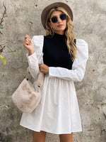 Puff Sleeve Dress Black