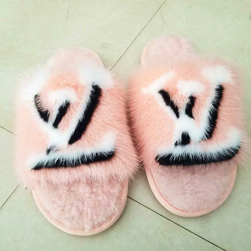 Logo Slippers Lux Fur (More Colours)