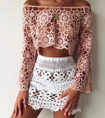Crochet White Flower Skirt