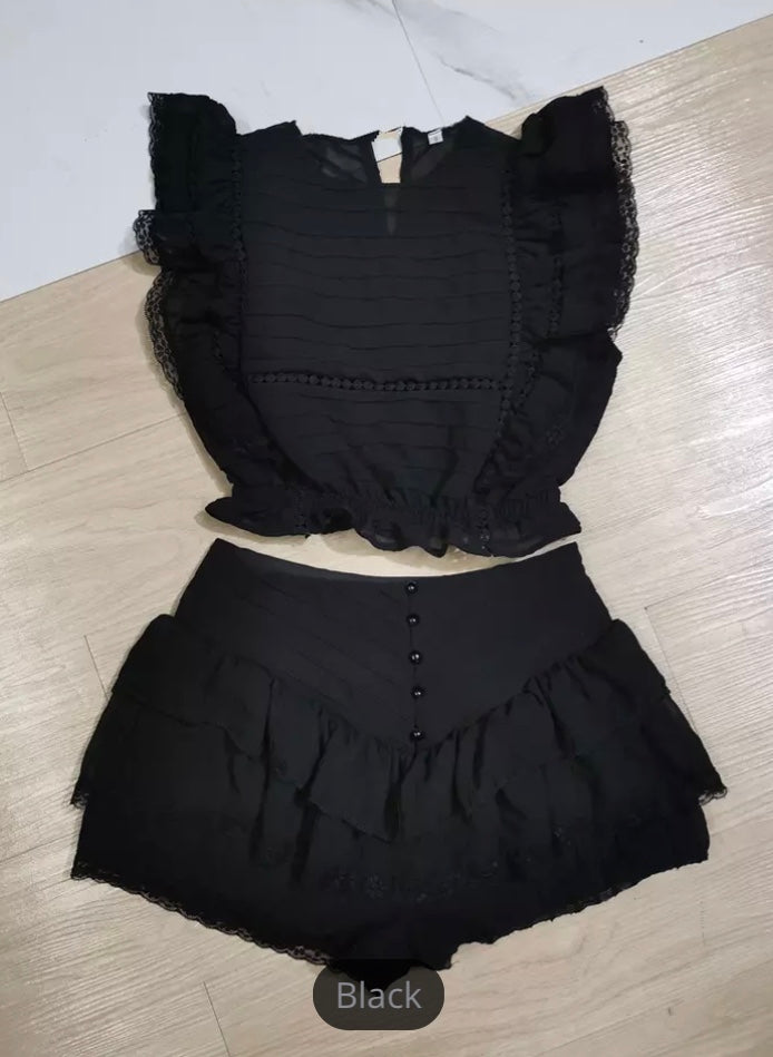 Black Lacey Set