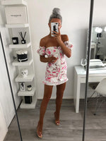 Floral Removal Sleeve Dress