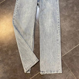Straight Wide Leg High Waist Chain Jeans