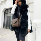 Hooded Black Gilet