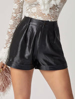 Leather Look Shorts