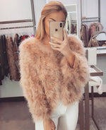 Ostrich Feather Coat-Rose