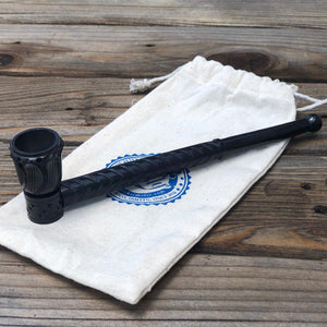 Hand Crafted Ebony Wooden Pipe 8.75