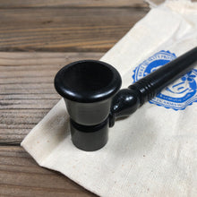 Load image into Gallery viewer, Hand-carved Ebony Wooden Pipe 8.75""