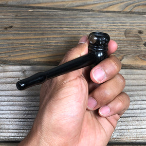 "4"" Hand-carved Ebony Wood Pipe Natural Wood"