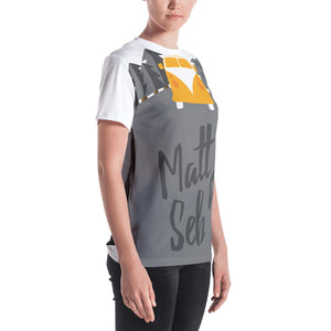 Camper Van all over women's T-shirt - Matt 'n' Seb