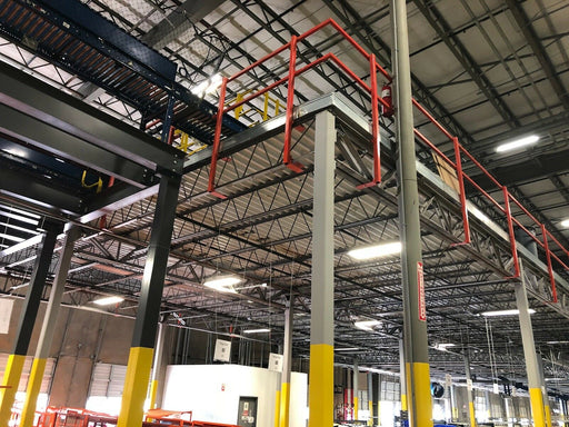 Mezzanine Warehouse Second Floor Storage Pallet Racking Rack Conveyor Work Area