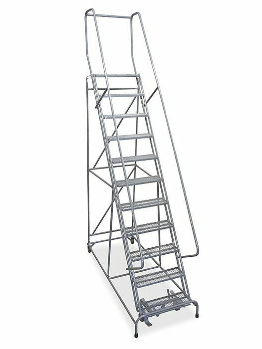 Used 11 Step Rolling Warehouse Ladder