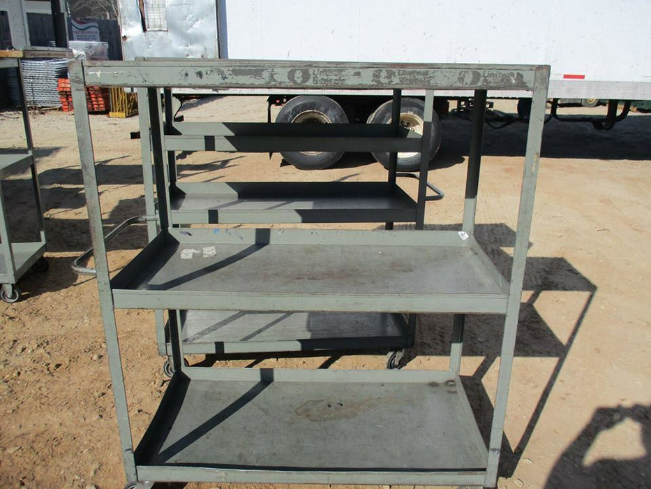 Three Shelf Metal Cart - Used Metal InventoryWarehouse Cart