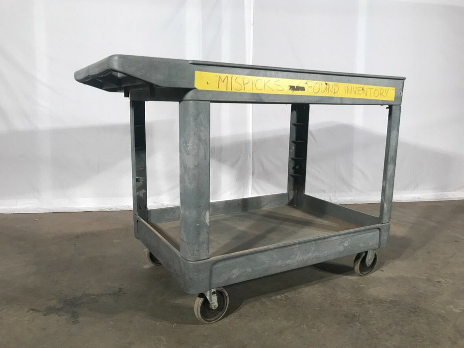 Used Rubbermaid Commercial Utility Inventory Cart