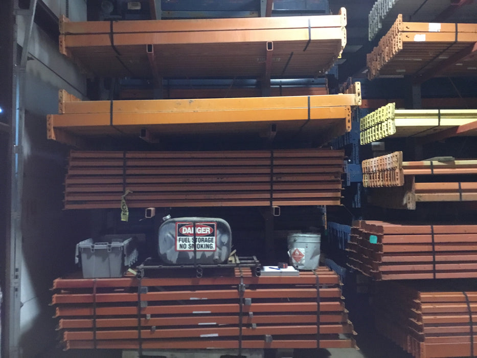 "Used Teardrop Pallet Rack Beam - 99"" X 4.75"""