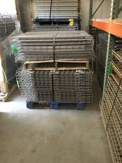 "Used Metal Waterfall Wire Deck for Pallet Racking Systems - 40"" X 58"""
