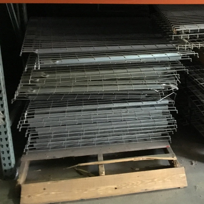 "Used Pallet Rack Flared Wire Deck - 46"" X 48"""