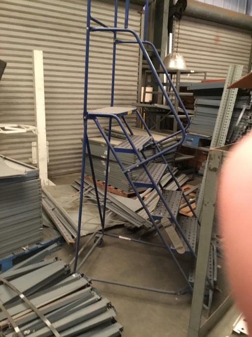 Used 6 Step Rolling Warehouse Ladder