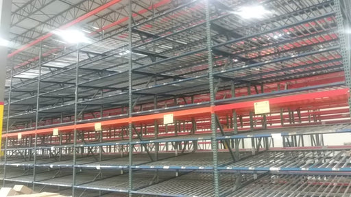 Used Carton Flow Pallet Racking - 8' X 10'