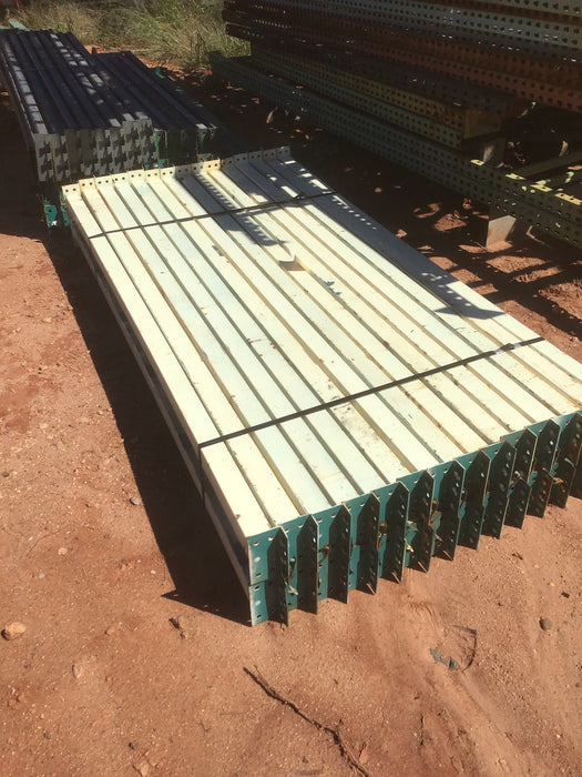 "Used Teardrop Pallet Rack Beam - 92"" X 4"""