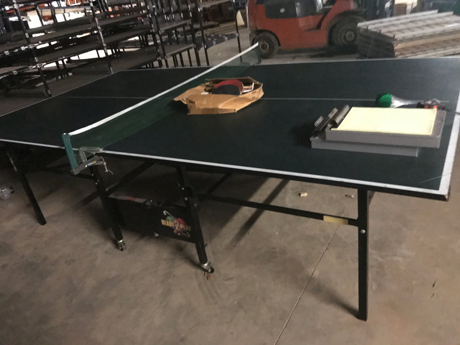 "Used Ping Pong Table With Paddles - 60"" X 30"" X 108"""