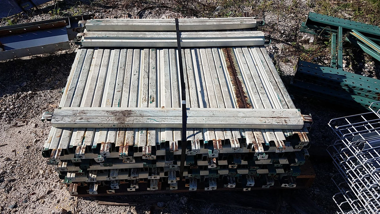 "Used Flanged Pallet Support Bar - 48"" X 3"""