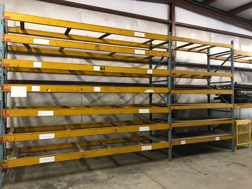 "Cheap Used Husky Pallet Rack Beam - 160"" X 6"""
