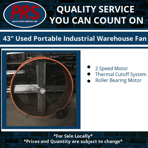 "43"" Used Portable Industrial Warehouse Fan"