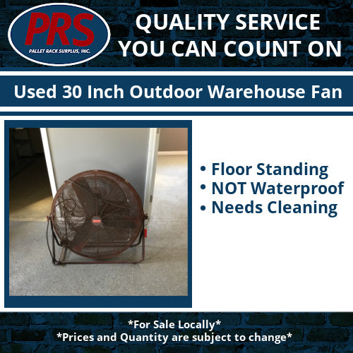 Used 30 Inch Outdoor Warehouse Fan
