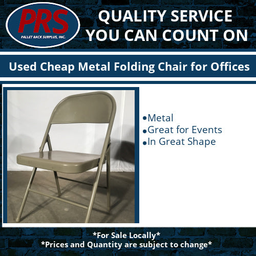 Used Cheap Metal Folding Chair for Offices