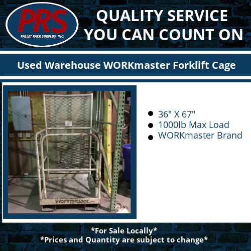 Used Warehouse WORKmaster Forklift Cage