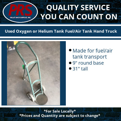 Used Oxygen or Helium Tank Fuel/Air Tank Hand Truck