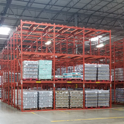 High Density Structural Push-Back Pallet Rack Package