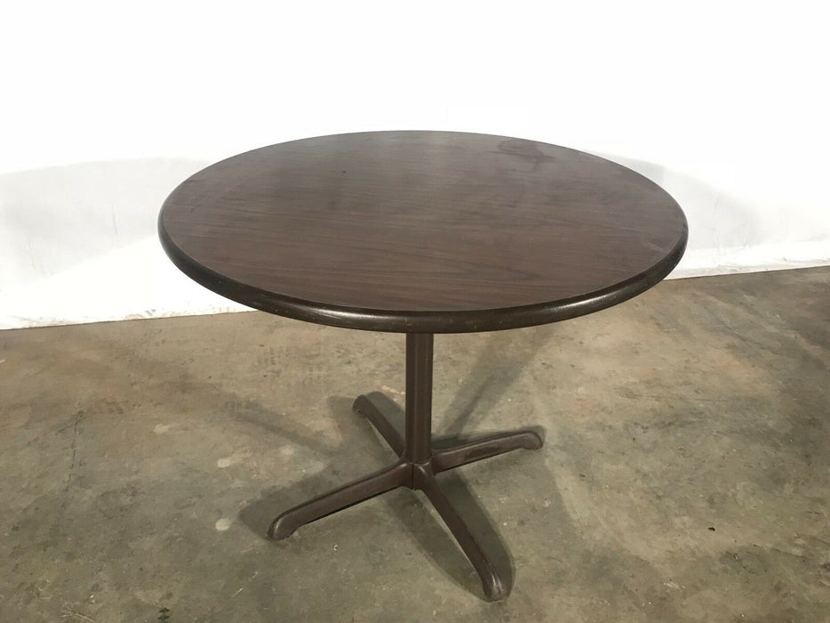 Used Round Office Table - Brown Side Table