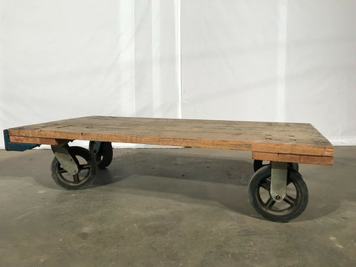 "Used Industrial Flatbed Warehouse Cart - 72"" X 36"" X 37"""