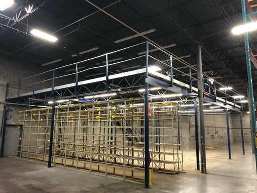Mezzanine Warehouse Storage Bar Grating - 1730 sq. ft. total