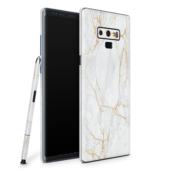 Samsung Note 9 Skin (Gold Marble)