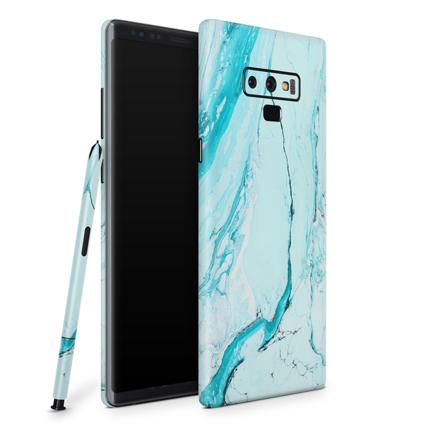 Samsung Note 9 Skin (Light Blue Marble)
