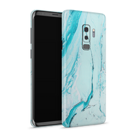 Samsung S9 Plus Skin (Light Blue Marble)