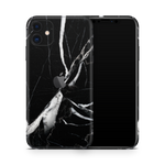 iPhone 11 Skin (Black Marble)