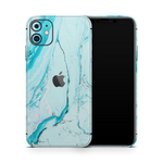 iPhone 11 Skin (Light Blue Marble)
