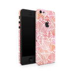 iPhone 5/5S/SE Skin (Pink Leaves)