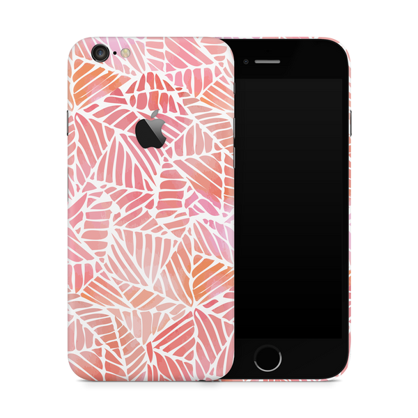 iPhone 6/6S Plus Skin (Pink Leaves)