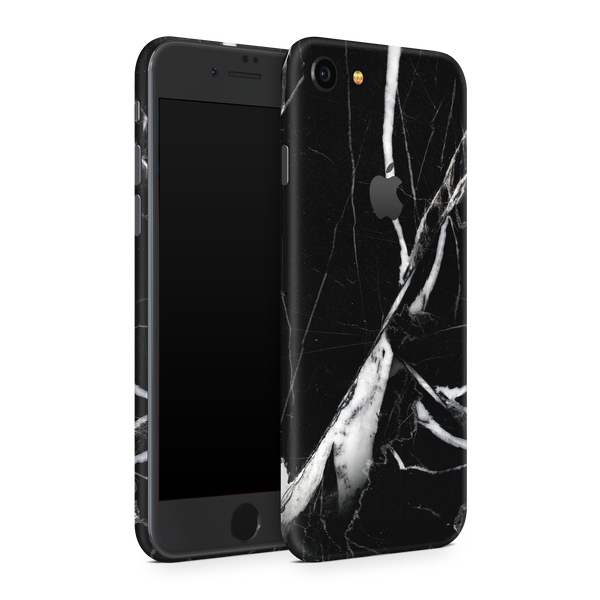 iPhone 8 Skin (Black Marble)