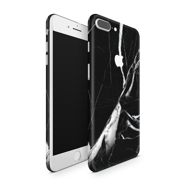 iPhone 8 Plus Skin (Black Marble)