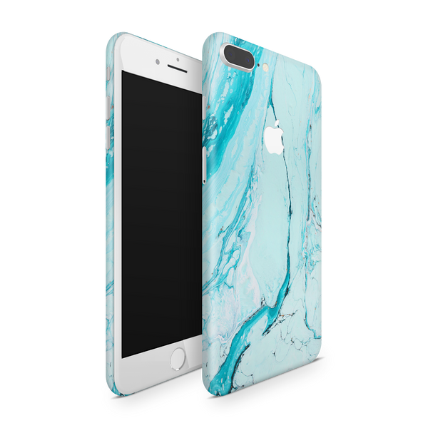 iPhone 7 Plus Skin (Light Blue Marble)