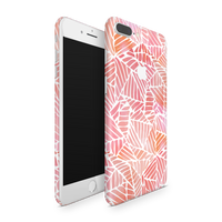 iPhone 7 Plus Skin (Pink Leaves)