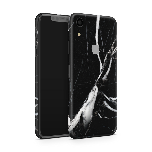 iPhone XR Skin (Black Marble)